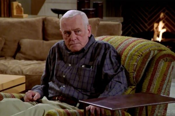 Martin Crane could often be found on his hideous, but iconic recliner seat