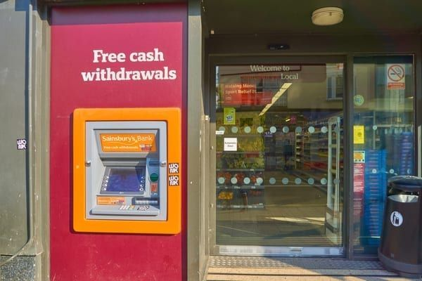Supermarkets currently pay extra taxes for street-facing cash machines, which they say is unfair (Photo: Shutterstock)
