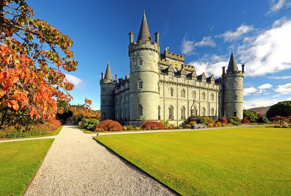 Inveraray Castle was used fir filming Downton Abbey