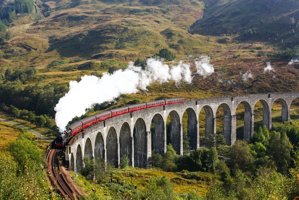 The Glenfinnan Viaduct features in the Harry Potter films