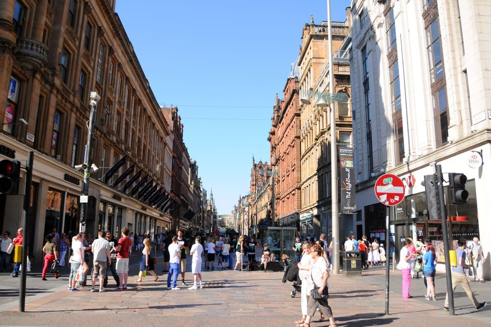 Actress Jenna Coleman was filming for The Cry in Glasgow's Argyle Street