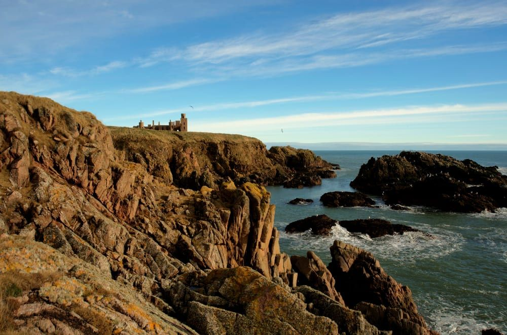 Slains Castle at Cruden Bay features in The Crown