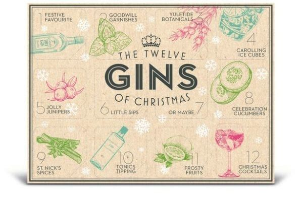 The calendar features 12 miniature bottles of gin from a variety of brands (Photo: B&M)