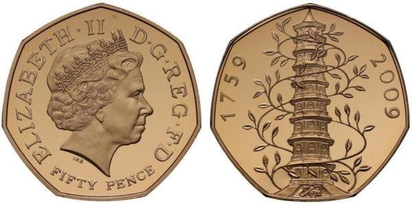 Only 629 of the special gold version 50p coin were made, making it one of the rarest and most sough-after (Photo: The Royal Mint)