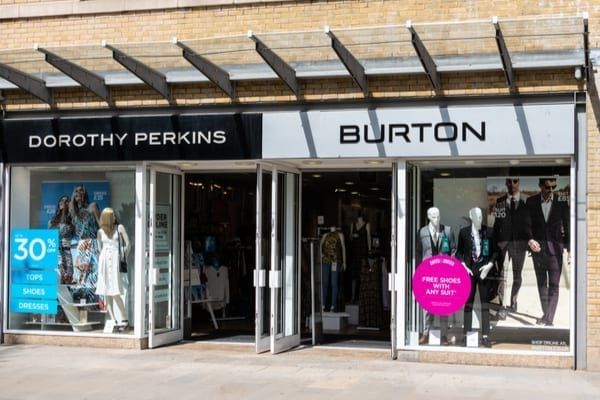 Among the closures are various Dorothy Perkins, Burton, Topshop and Wallis stores (Photo: Shutterstock)