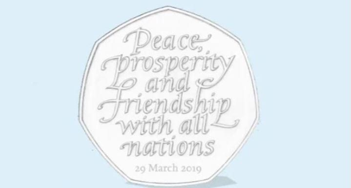 The commemorative coins are to be released in time for the planned leave date on 31 October (Photo: HM Treasury)