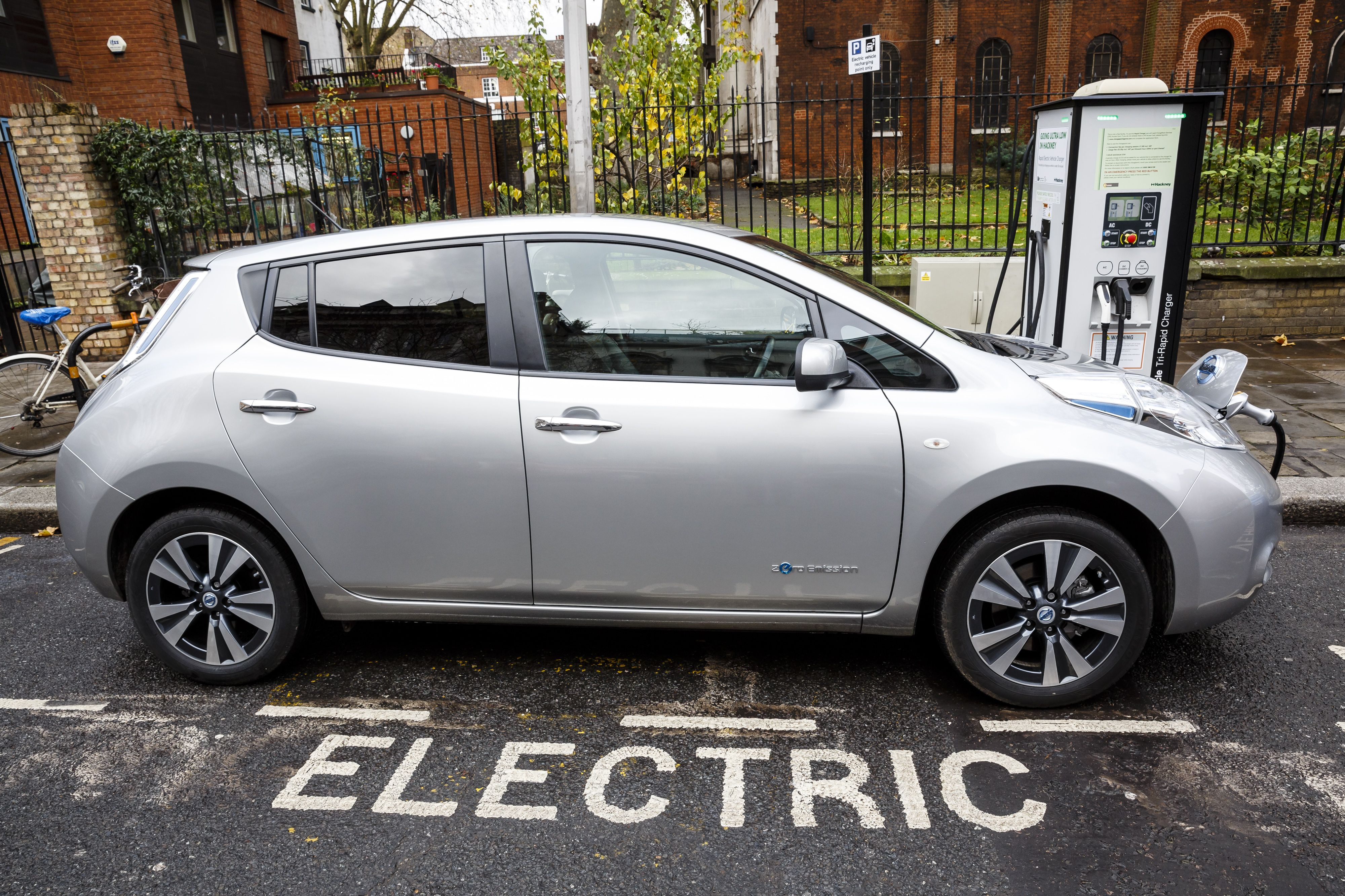 go-ultra-low-electric-vehicle-on-charge-on-a-london-street